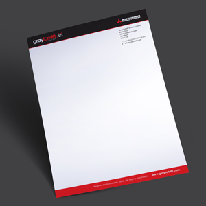 A4 letterheads full colour single sided aberdeen printing gray forklift lh web altavistaventures Images